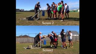 preview picture of video 'Rongotai College 1st XV First Scrum Session 2013'
