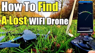 How To Find a Lost Wifi Drone Using Your Phone Wifi Analyzer App DJI Mavic Clone Eachine E58 Drone