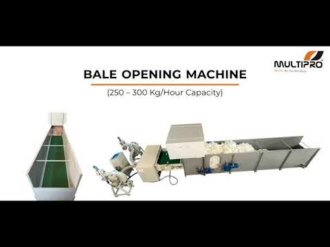 Multipro Fiber Bale Opening Machine With Fiber Opening & Pillow Filling Machine