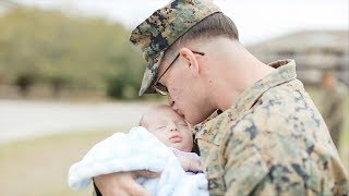 Dad Meets Baby Boy | Military Homecoming