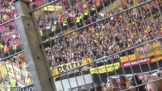 Dynamo Ultras fordern Stuttgarter Ultras zum Tanze auf!