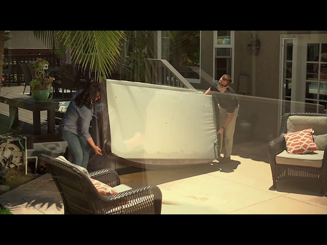 How to Remove Your Hot Tub Cover without Using a Lifter - Caldera Spas