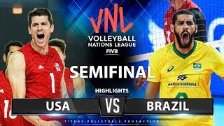 USA Vs Brazil | SEMIFINAL | Highlights | Men's VNL 2019
