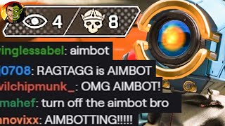 My Stream Chat Reported me for Aim Botting in Kings Canyon  - Apex Legends