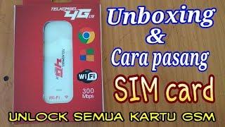 """Modem 4G LTE unlock all GSM """"Cara pasang SIM card"""""""