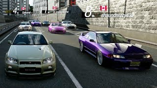 GT Sport:Open Lobby Cruise | 900HP R34 GT-R, 458 Italia, 911 GT3 & More