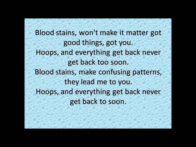 Hoops-The Rubens (lyrics)