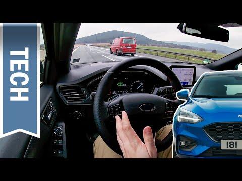 Ford Intelligent Drive Assist & Fahrspur-Pilot im Ford Focus im Test / teilautonomes Fahren