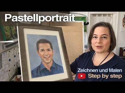 Pastellportrait Dirk Steffens -  step by step