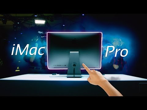 I touched the Apple iMac Pro...
