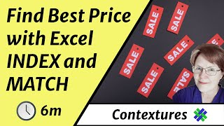 Best Price With Excel INDEX and MATCH