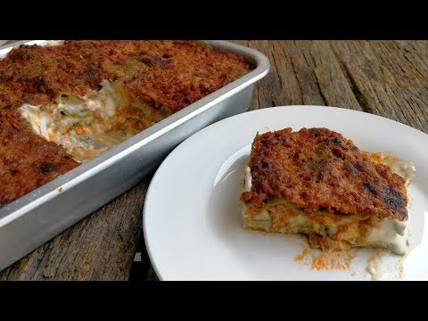 ITALIAN GREEN LASAGNA RECIPE How to make from scratch