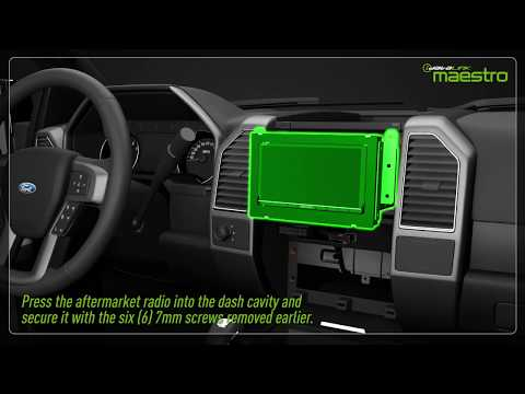 Video tutorial showing how to install the  MFT1 and Maestro module in a truck.