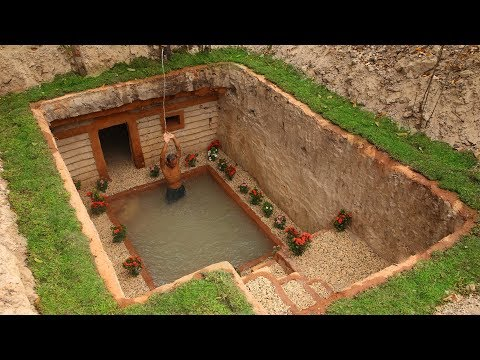 Dig to build Most Awesome Underground House and Underground Swimming Pool (видео)