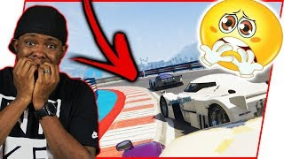 THAT FEELING WHEN YOU'RE IN 1ST PLACE AND THEN THIS HAPPENS!!! - GTA Online Race Gameplay