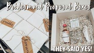 WEDDING SERIES #2 | DIY BRIDESMAID PROPOSAL BOXES & ASKING MY BRIDESMAIDS
