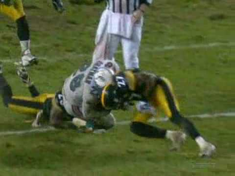 Dolphins vs Steelers 2007 Highlights Bad Weather Game 3-0
