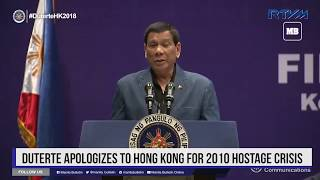 Duterte apologizes to Hong Kong for 2010 hostage crisis