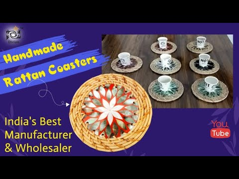 Floral Colorful Mother of Pearl Coasters
