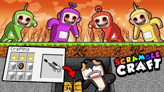 Surviving Minecraft with TELETUBBIES.EXE MOD! (Scramble Craft)