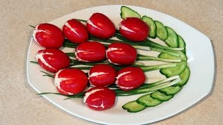 Оригинальные рецепты салатов.  Салат Тюльпан.
