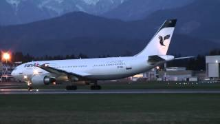 preview picture of video 'IranAir Airbus A300B4-605R (A30B) evening landing Brnik airport (LJU/LJLJ) HD'