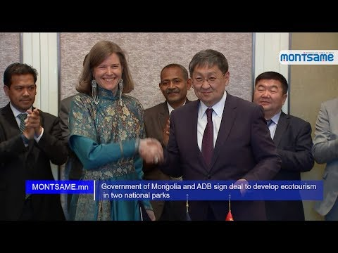 Government of Mongolia and ADB sign deal to develop ecotourism in two national parks