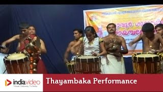 Thayambaka performance by young talents