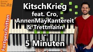 KitschKrieg Feat. Cro, AnnenMayKantereit & Trettmann - 5 Minuten | Piano Tutorial | German
