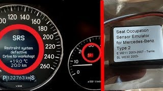 Solution Error SRS - Restraint System Defective on Mercedes / Removing SRS Error on Mercedes W211