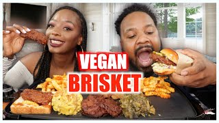FIRST TIME TRYING VEGAN BRISKET | SOUL FOOD EATING SHOW