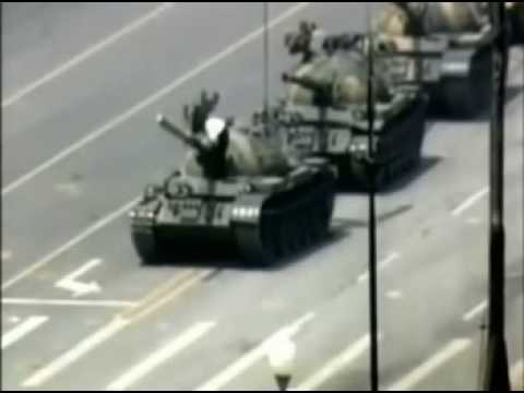 I see the Tiananmen Tank Man being posted a lot today, here's the full video of him climbing the tank and getting rushed off.