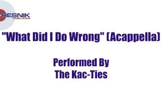 The Kac-Ties- What Did I Do Wrong (Acappella)