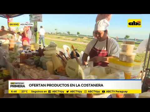 Ofertan productos en la Costanera