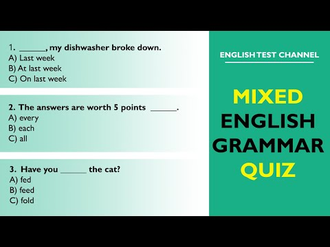 Mixed English Grammar Quiz