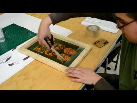 como encintar y bloquear marcos de serigrafia