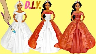 Disney Princess ELENA OF AVALOR D.I.Y. Do It Yourself Paint Your Own Coin Piggy Bank, Kid Craft TUYC