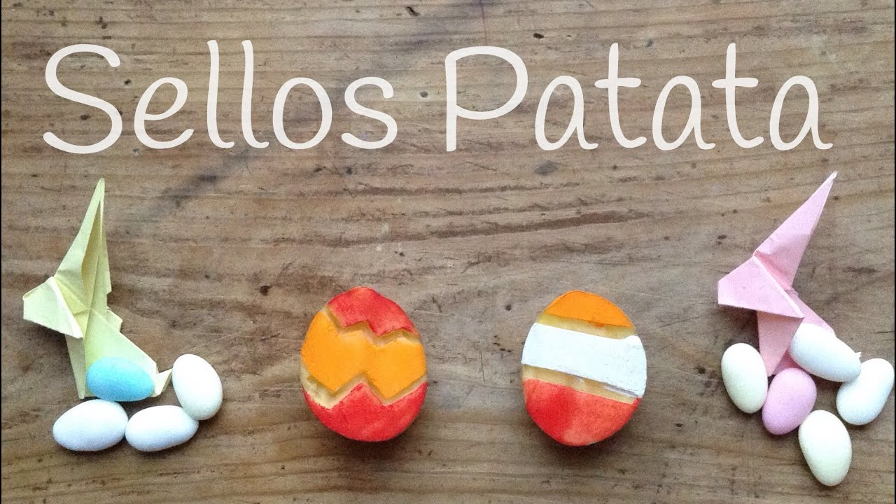 Cómo hacer SELLOS con patatas: Manualidades para PASCUA
