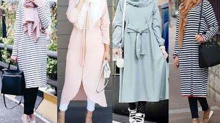 Casual Hijab Outfit - Tunic Lookbook 2016  سترات للمحجبات