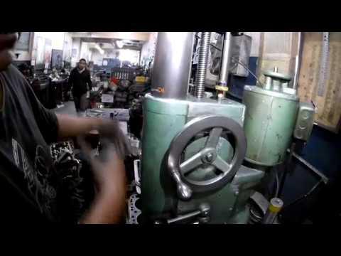 Como rectificar o cortar los cilindros de un monoblock de opel explicación de rectificado parte 5