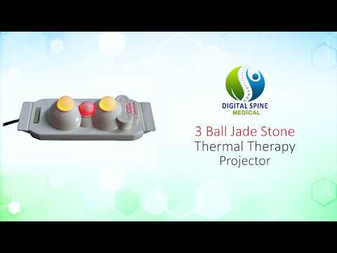 DIGITAL SPINE 3 Ball Jade Stone Thermal Therapy Projector for Pain Relief