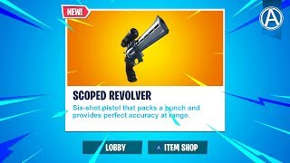 "NEW ""SCOPED REVOLVER"" Coming Soon!(Fortnite Battle Royale LIVE)"