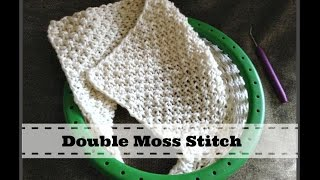 LOOM KNITTING STITCHES Double Moss Stitch Pattern