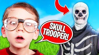 How Kids REACT to Skull Trooper (Fortnite Battle Royale)