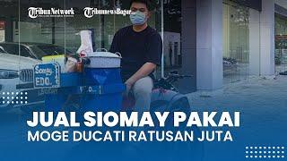 Viral Video Penjual Siomay Pakai Moge Ducati Diavel Ratusan Juta, Begini Faktanya