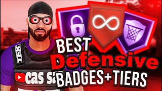THE BEST DEFENSIVE BADGE SETUP AND WHAT TIER THEYRE BEST AT AFTER PATCH 14! NBA 2K20 BEST BADGES!