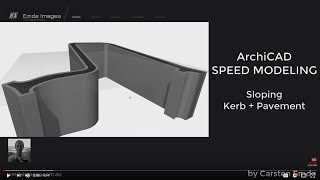 How to model a sloping Kerb and Pavement