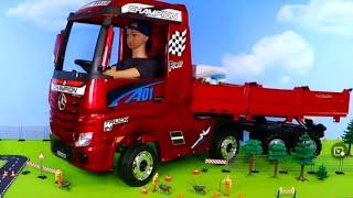 Polizeiauto, Kran, Müllabfuhr & Bagger Spielzeugautos für Kinder
