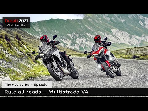 2021 Ducati Multistrada V4 S Sport Full Alloy Wheels in Fort Montgomery, New York - Video 1