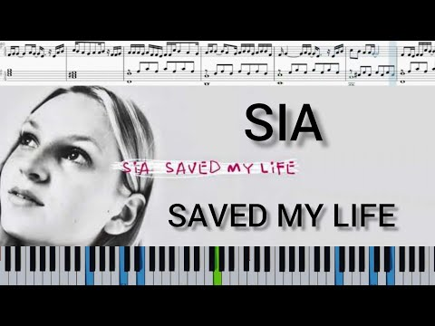 Sia - Saved My Life | Piano Sheets | Piano Tutorial